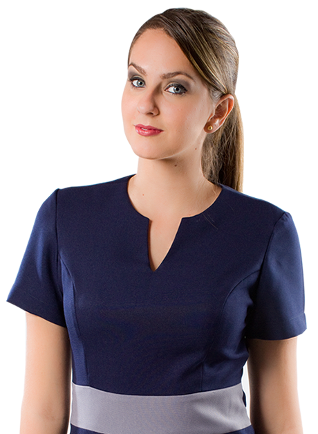 Vestido social uniforme